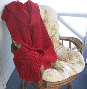 red lap blanket